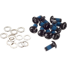 NOW8 Steel Bolts for Disc Brake Rotor 12 Pieces, black